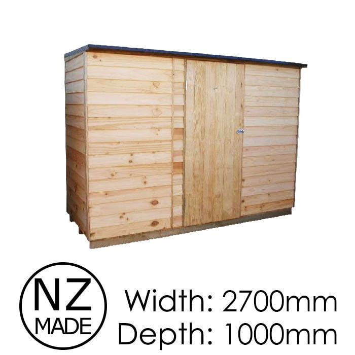 Pinehaven 2700x1000 Rimutaka Timber Garden Shed available at Gubba Garden Shed