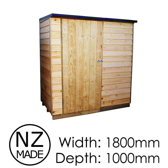 Pinehaven 1800x1000 Ruahine Timber Garden Shed available at Gubba Garden Shed