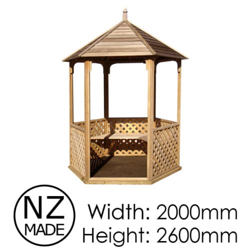Pinehaven 2000x2600 Waihi Gazebo available at Gubba Garden Shed
