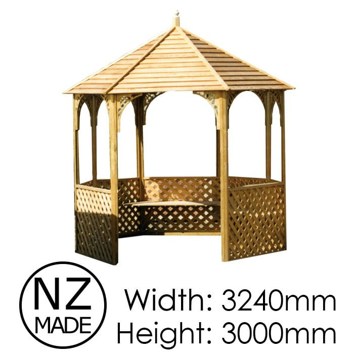 Pinehaven 3240x3000 Waimarama Gazebo available at Gubba Garden Shed