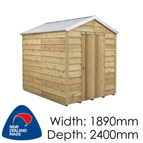 Rustics 1890x2400 Dakota Timber Garden Shed available at Gubba Garden Shed