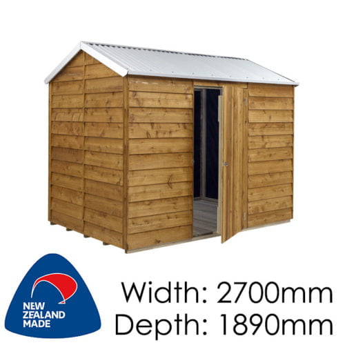 Rustics 2700x1890 Iowa Timber Garden Shed available at Gubba Garden Shed