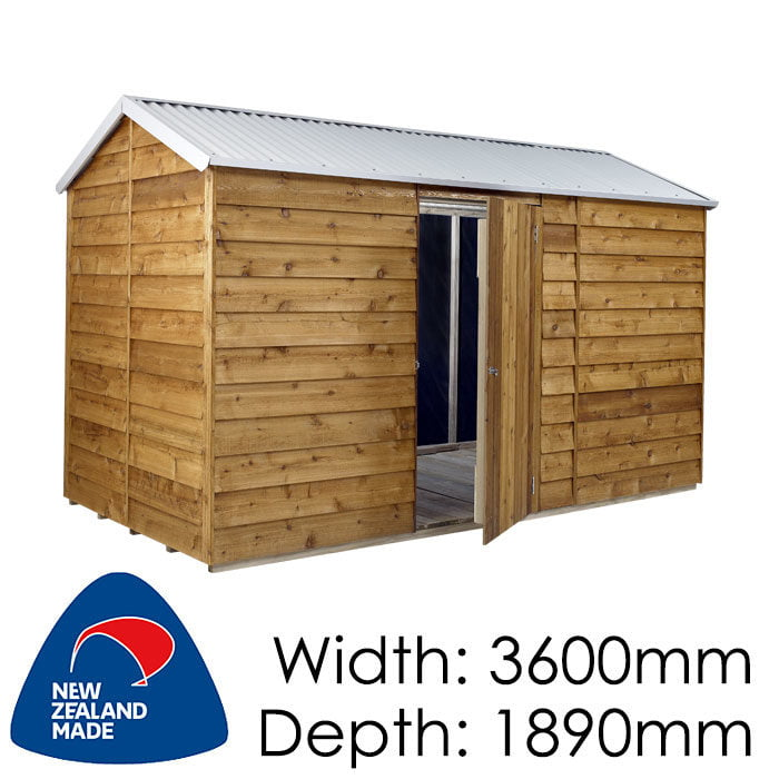 Rustics 3600x1890 Kansas Timber Garden Shed available at Gubba Garden Shed