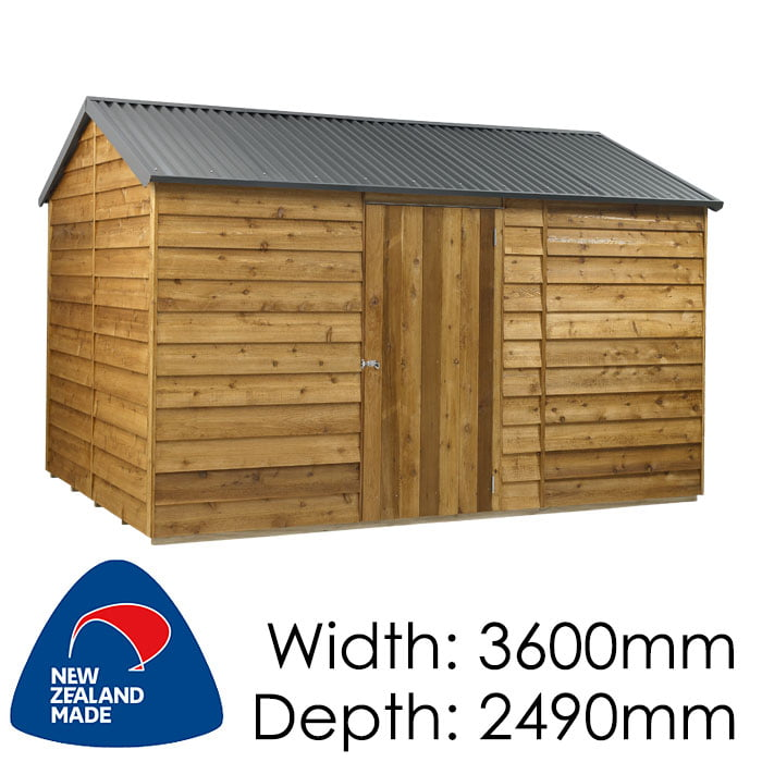 Rustics 3600x2490 Nebraska Timber Garden Shed available at Gubba Garden Shed