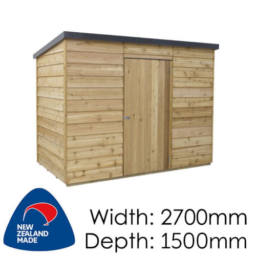 Rustics 2700x1500 Nevada Timber Garden Shed available at Gubba Garden Shed