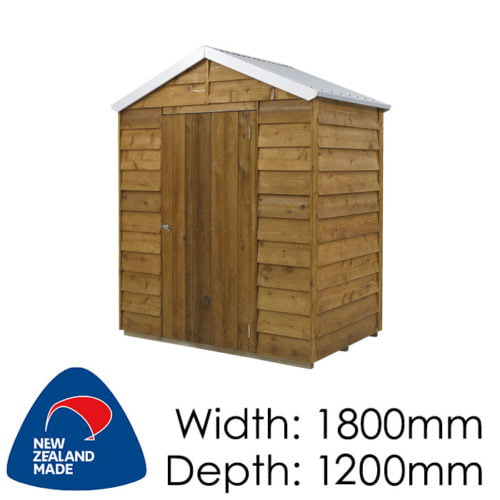 Rustics 1800x1200 Utah Timber Garden Shed available at Gubba Garden Shed