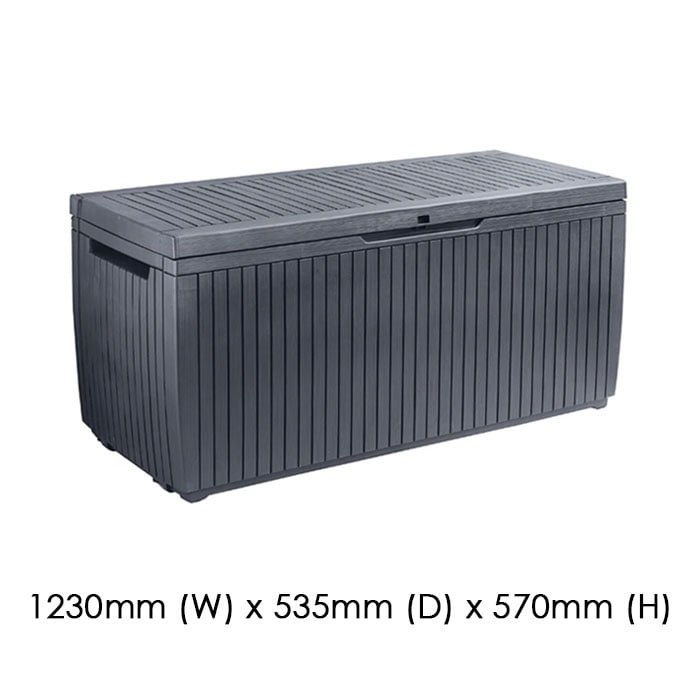 Keter 1230x635 Springwood Cushion Box available at Gubba Garden Shed