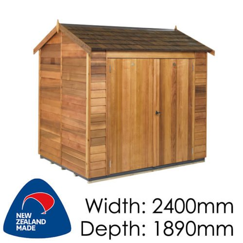 Cedar 2400x1890 Astor Timber Garden Shed available at Gubba Garden Shed