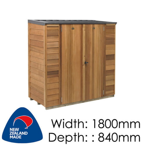 Cedar 1800x840 Cambridge Locker Timber Garden Shed available at Gubba Garden Shed