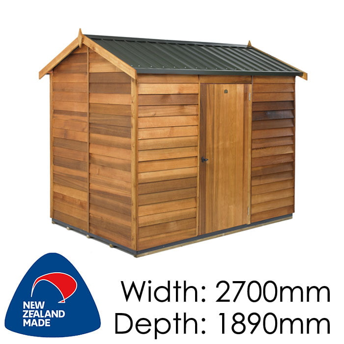Cedar 2700x1890 Logan Timber Garden Shed available at Gubba Garden Shed