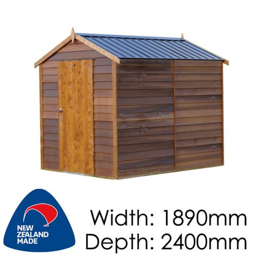 Cedar 1890x2400 Sherwood Timber Garden Shed available at Gubba Garden Shed