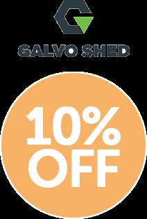 Galvo GVO1508 Alu-Zinc Garden Shed