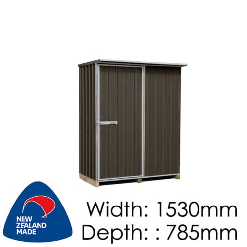 "Galvo GVO1508 1530x785 ""Ironsand"" Coloured Steel Garden Shed available at Gubba Garden Shed"