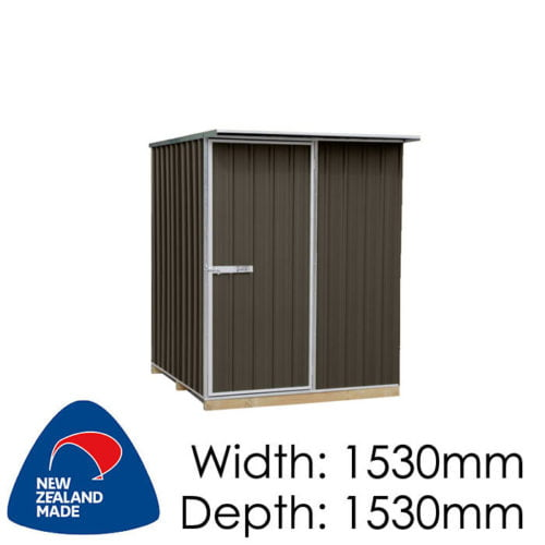 "Galvo GVO1515 1530x1530 ""Ironsand"" Coloured Steel Garden Shed available at Gubba Garden Shed"