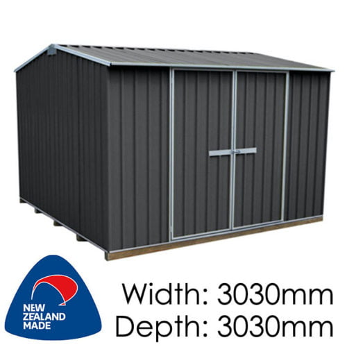 "Galvo GVO3030 3030x3030 ""Grey Friars"" Coloured Steel Garden Shed available at Gubba Garden Shed"