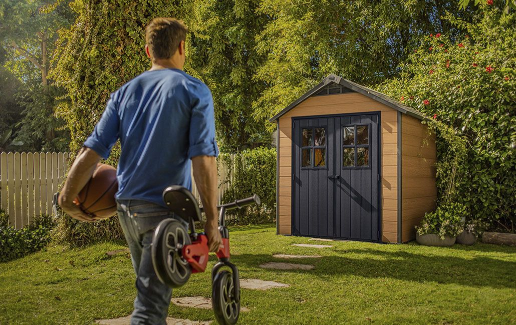 Keter Newton 757 2280x2235 Outdoor Storage Shed