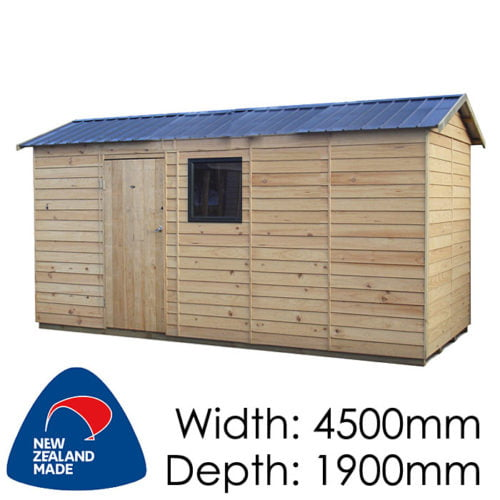 Garden Sheds NZ pinehaven-haast-timber-shed-1-500x500