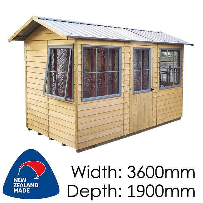 Garden Sheds NZ pinehaven-pohutukawa-timber-shed3-700x700