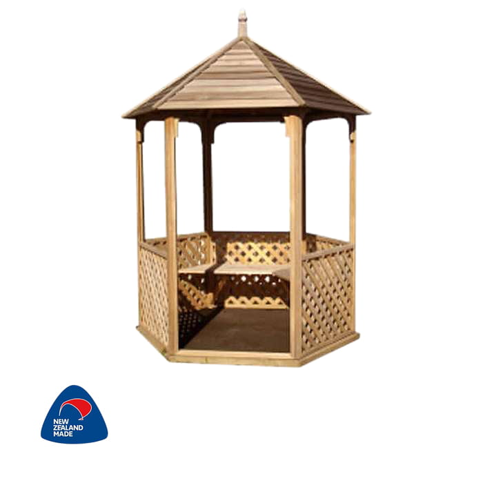 Pinehaven 2570x2850 Wainui Gazebo available at Gubba Garden Shed