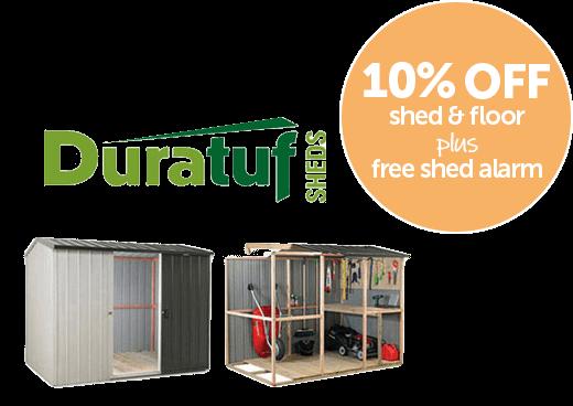Garden Sheds NZ timber-framed-steel-sheds-duratuf-promo